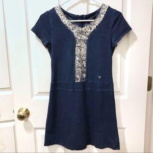 Guess kids girls blue sequin dress size 16
